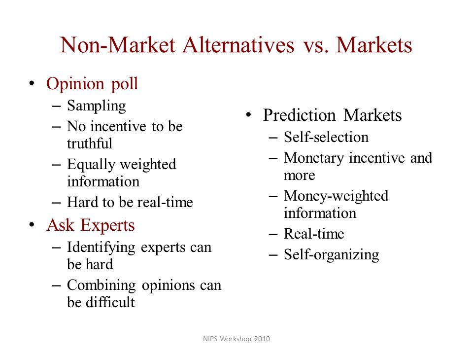 Non-Market Alternatives vs.