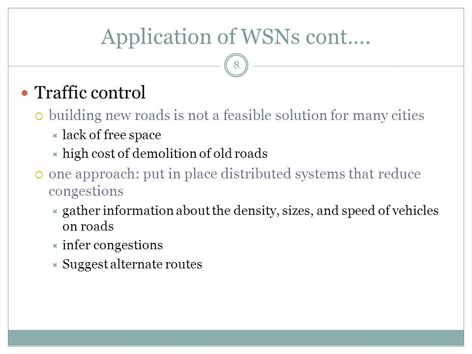Routing in WSNs 9 Low processing power, low memory storage, Limited bandwidth and energy supply creates many challenges in WSNs Routing in WSNs offers a better means through which reliable delivery of data and energy-efficient route can be setup.