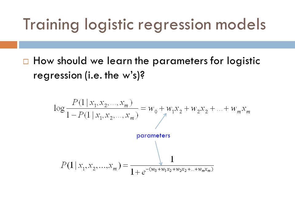Training logistic regression models  Idea 1: minimize the squared error (like linear regression)  Any problems.
