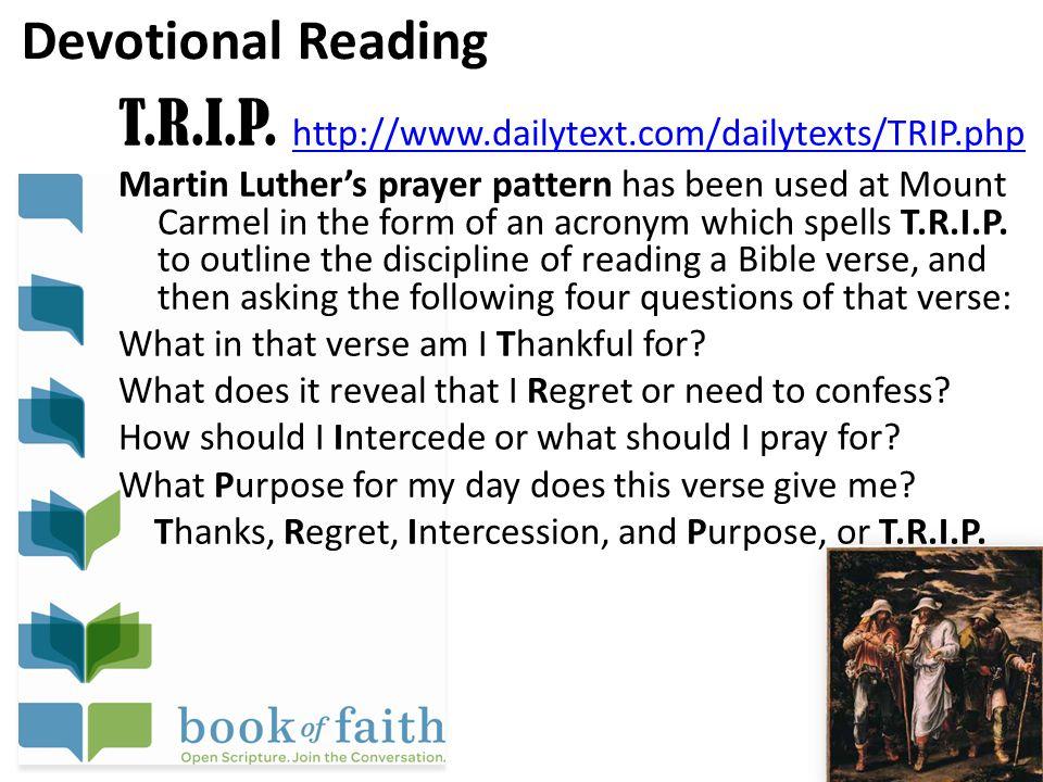 Devotional Reading T.R.I.P.