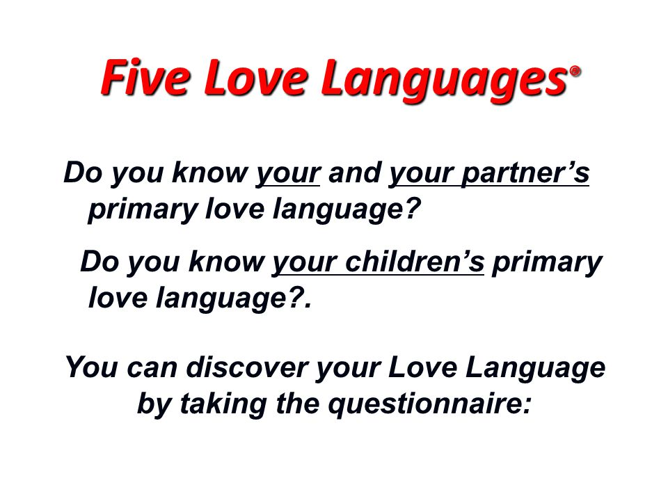 Do you know your and your partner's primary love language.
