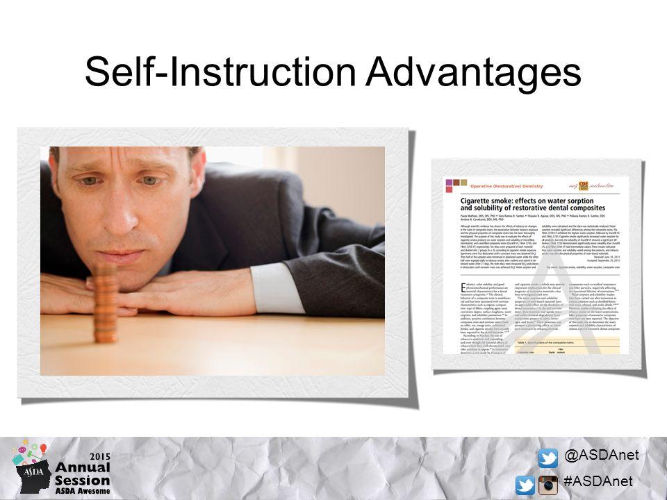 @ASDAnet #ASDAnet Self-Instruction Advantages