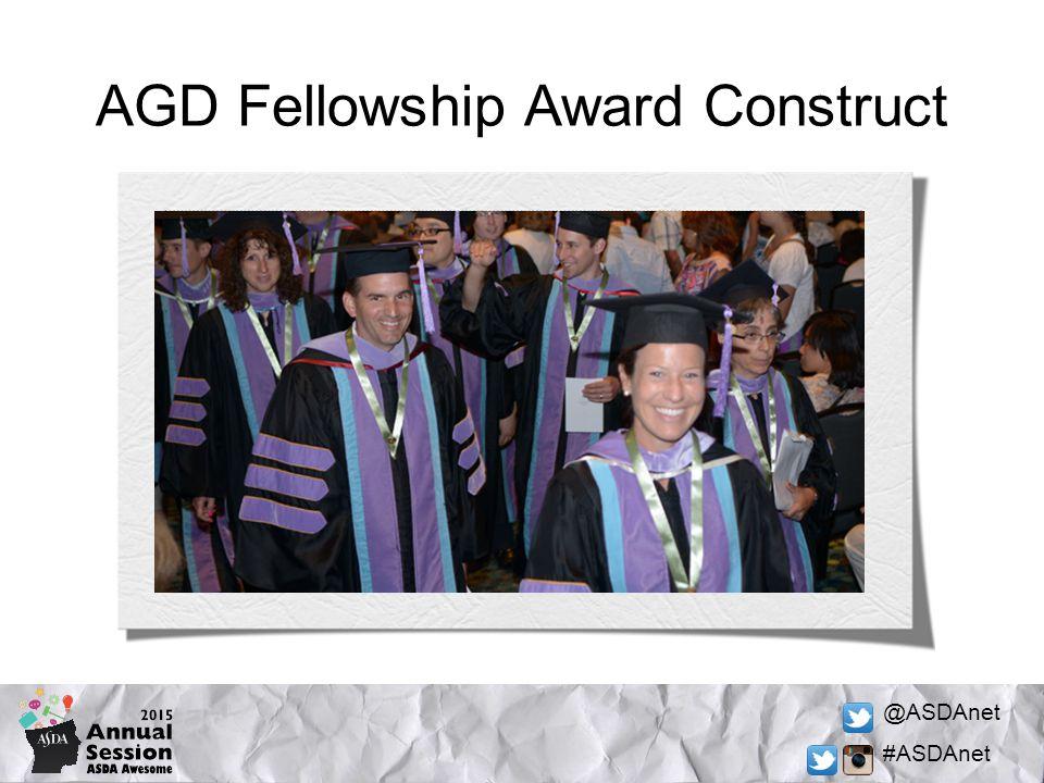 @ASDAnet #ASDAnet AGD Fellowship Award Construct