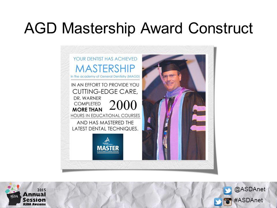 @ASDAnet #ASDAnet AGD Mastership Award Construct