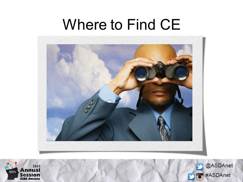 @ASDAnet #ASDAnet Where to Find CE