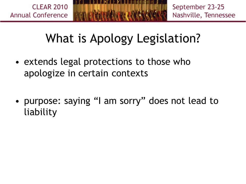What is Apology Legislation.
