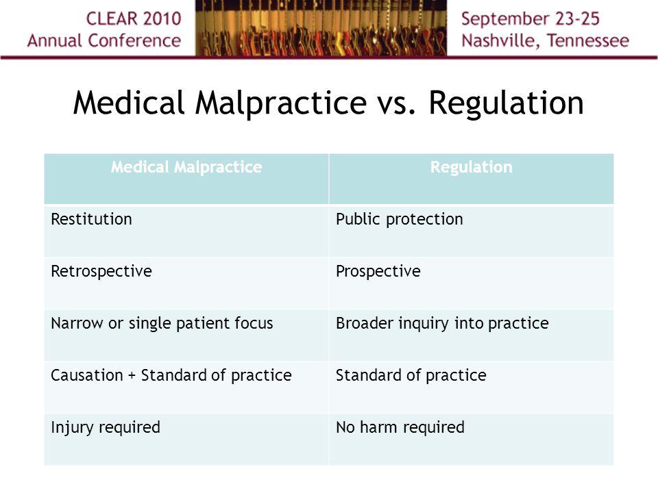 Medical Malpractice vs.