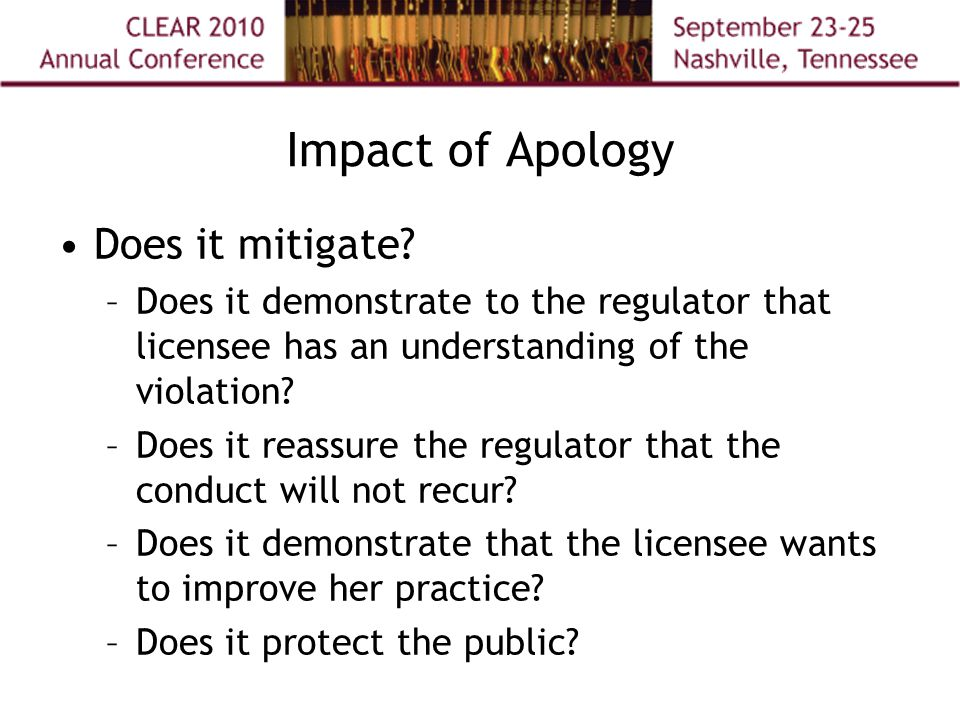 Impact of Apology Does it mitigate.