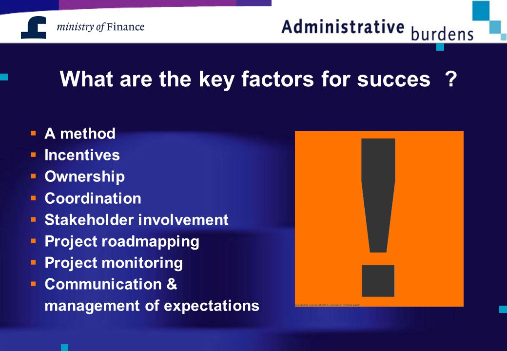 What are the key factors for succes .