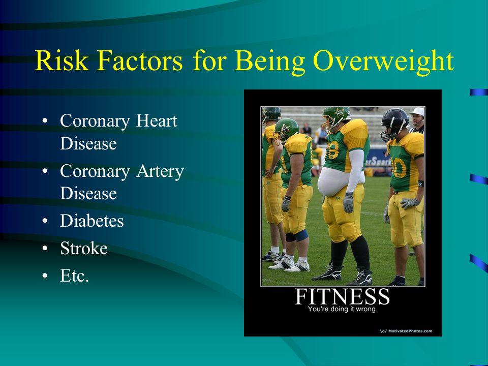 Risk Factors for Being Overweight Coronary Heart Disease Coronary Artery Disease Diabetes Stroke Etc.
