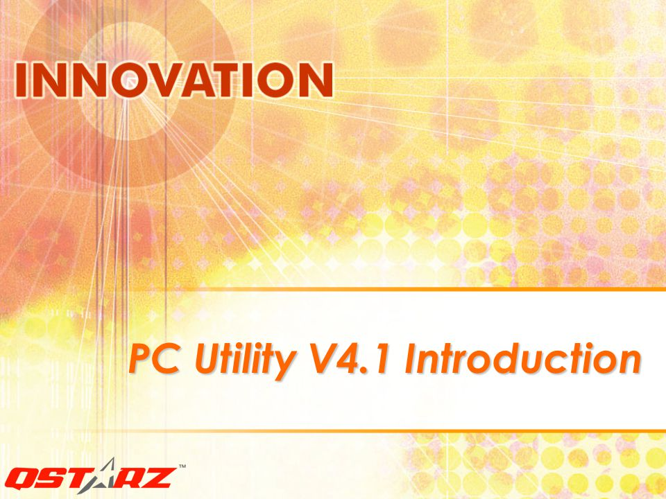 PC Utility V4.1 Introduction