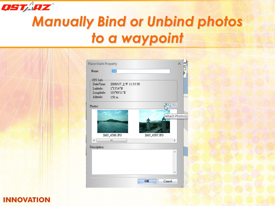 Manually Bind or Unbind photos to a waypoint