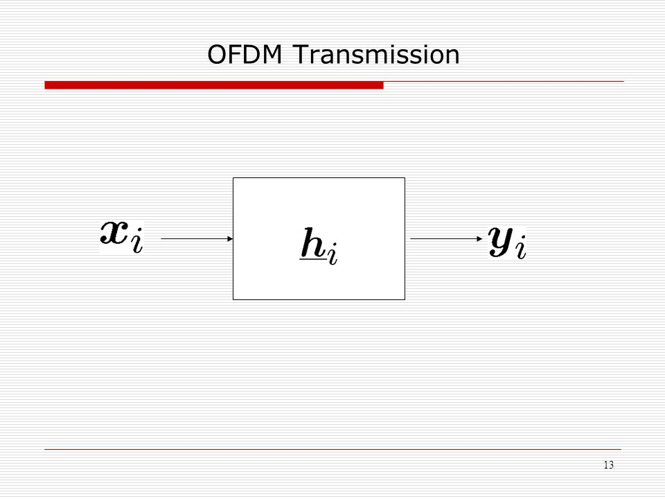 13 OFDM Transmission