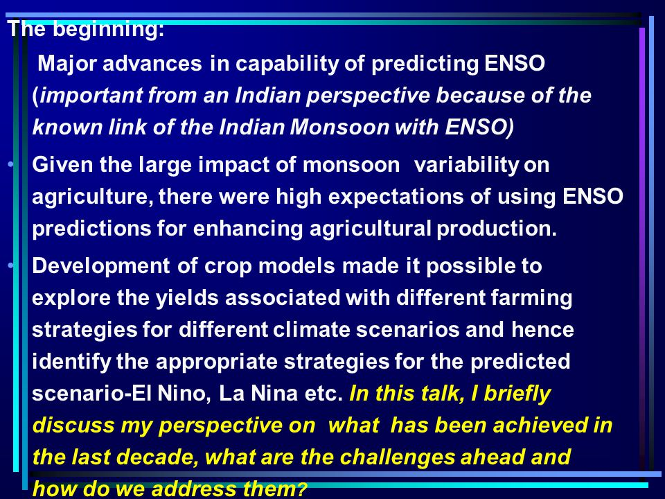 However when the extremes are not associated with ENSO (e.g. 1994) what happens?