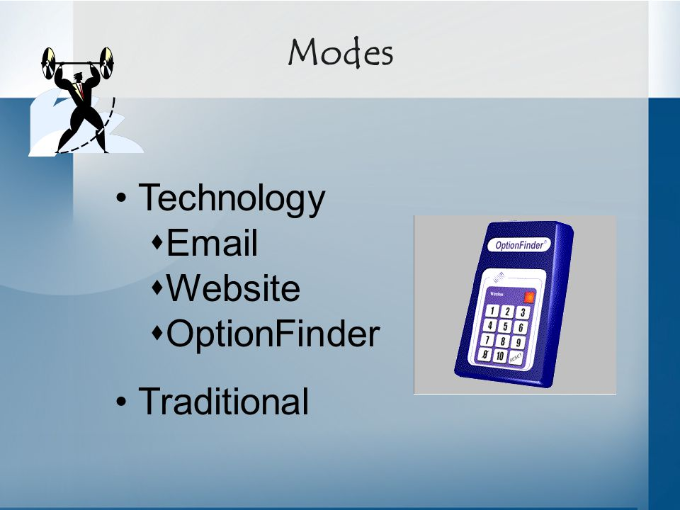 Modes Technology  Email  Website  OptionFinder Traditional