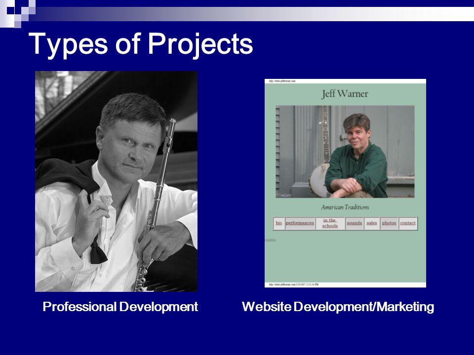 Types of Projects Website Development/MarketingProfessional Development