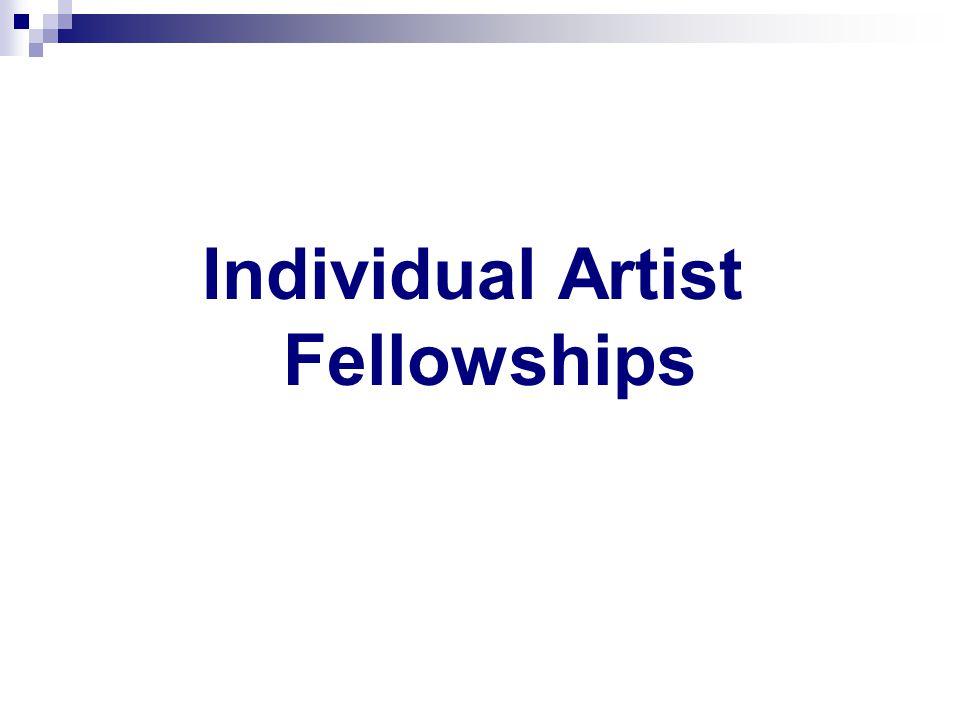 Individual Artist Fellowships