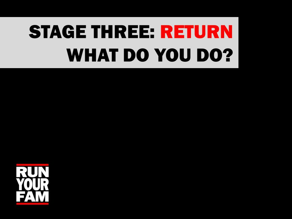 STAGE THREE: RETURN WHAT DO YOU DO?