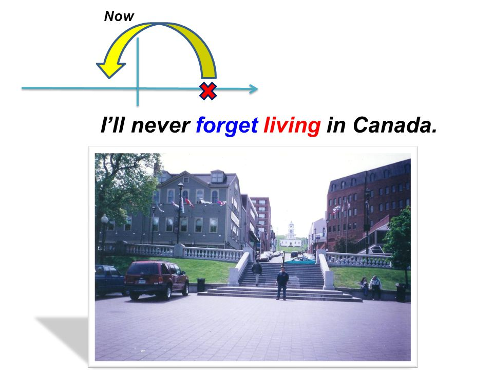 Now I'll never forget living in Canada.