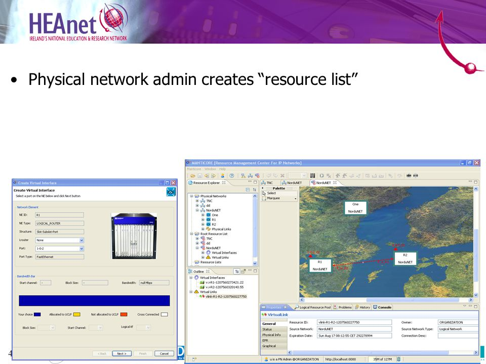 48 Physical network admin creates resource list 20