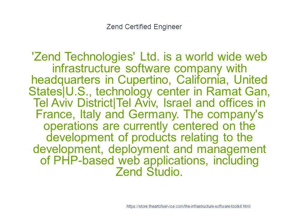 Zend Certified Engineer 1 Zend Technologies Ltd.
