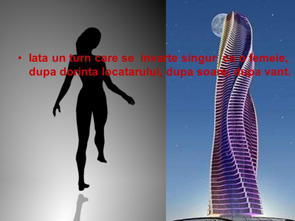 Iata un turn care se invarte singur ca o femeie, dupa dorinta locatarului, dupa soare, dupa vant.