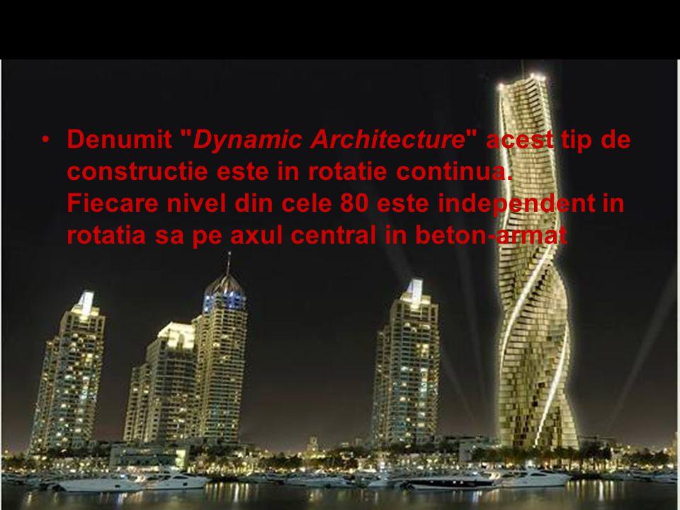 Denumit Dynamic Architecture acest tip de constructie este in rotatie continua.