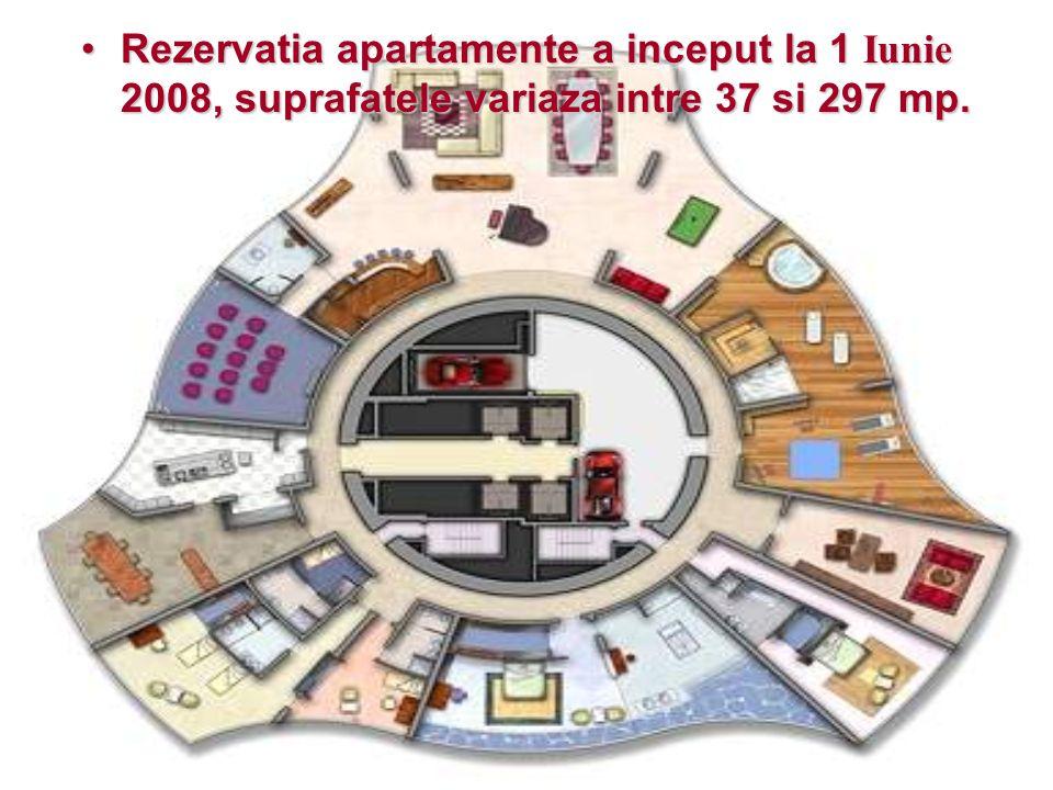 RezervatiaRezervatia apartamente a inceput la 1 Iunie 2008, suprafatele variaza intre 37 si 297 mp.