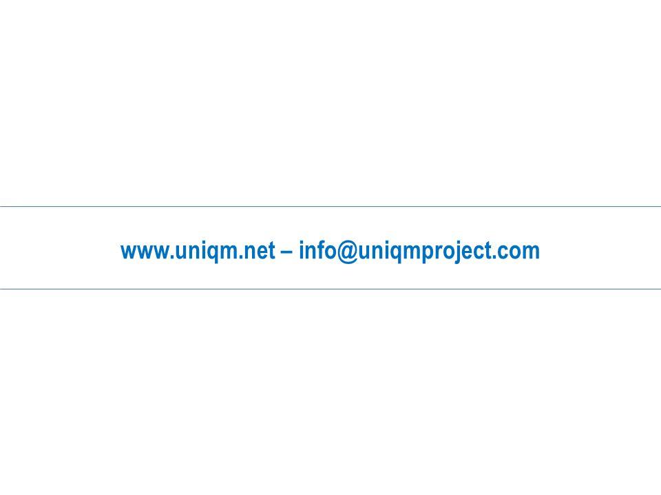 www.uniqm.net – info@uniqmproject.com