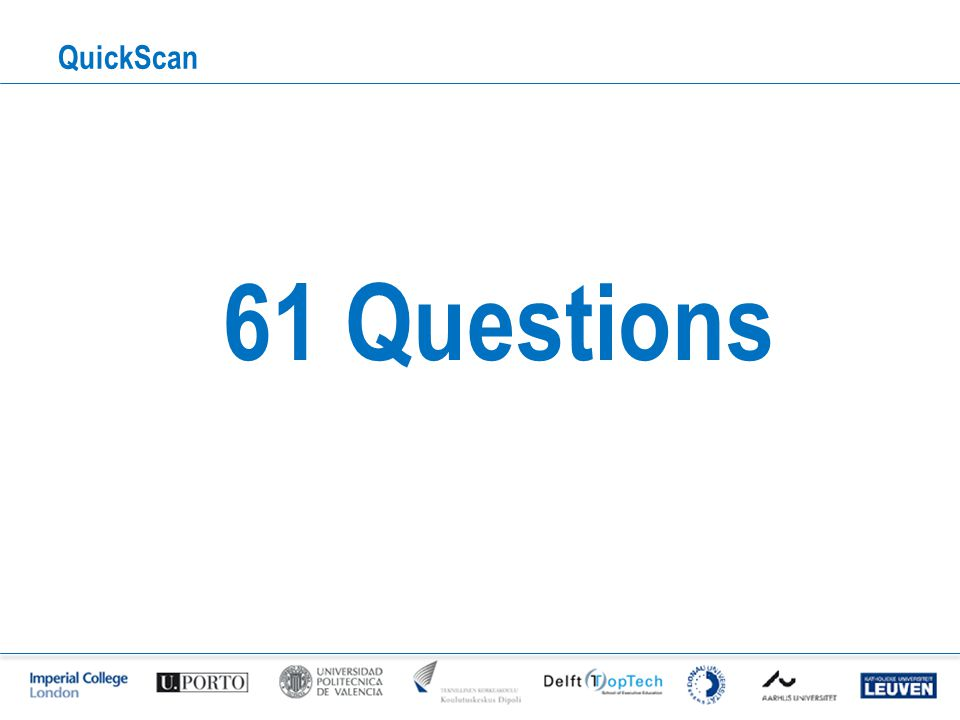 QuickScan 61 Questions