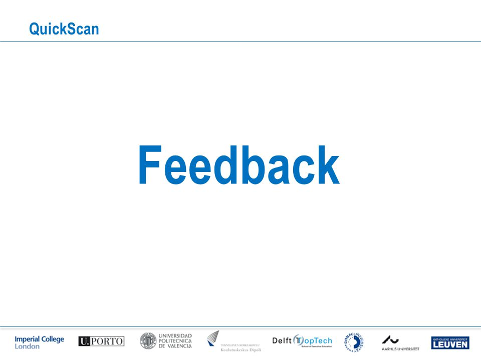 QuickScan Feedback