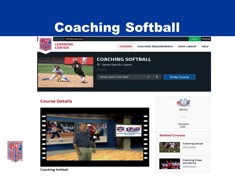 Free Courses on NFHSLearn.com Heat Illness Prevention Concussion in Sports Creating a Safe and Respectful Environment Coaching Pole Vault NCAA Eligibility Engaging Effectively with Parents Positive Sport Parenting Sports Nutrition Coaching Unified Sports Sportsmanship