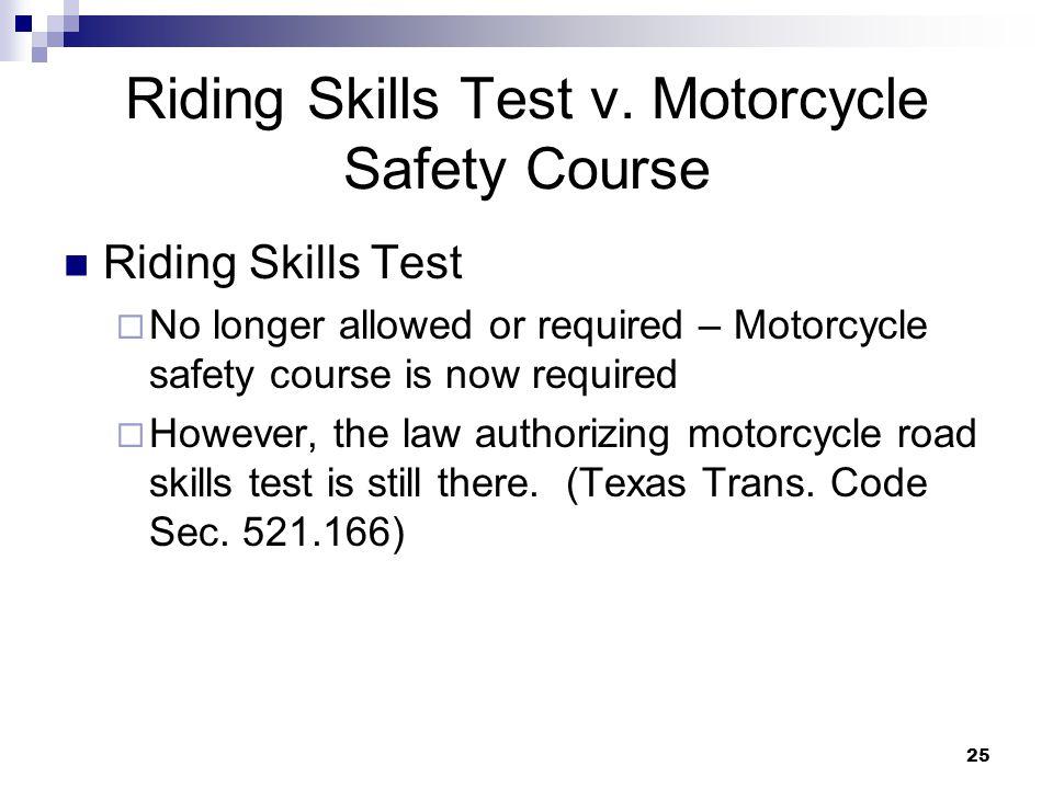 25 Riding Skills Test v.