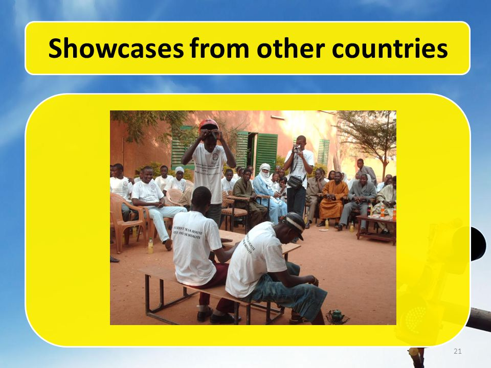 21 Showcases from other countries