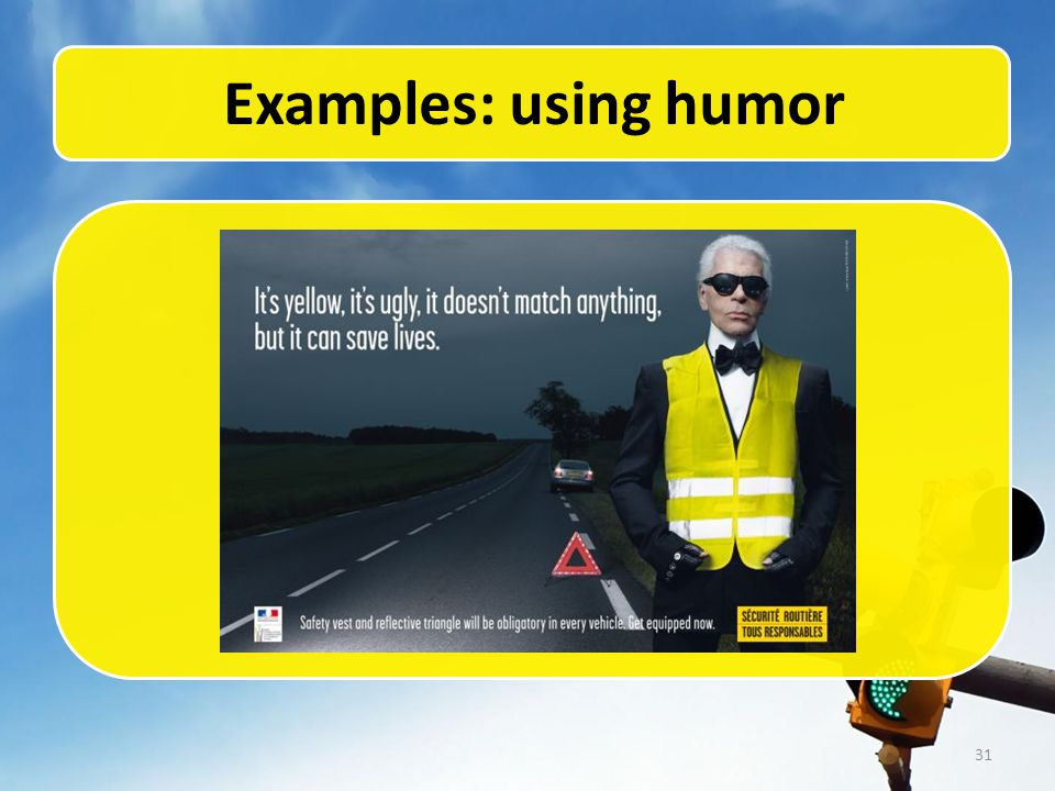 31 Examples: using humor