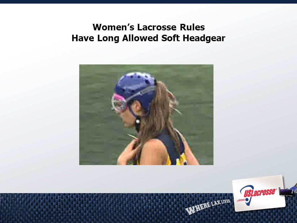 Women's Lacrosse Rules Have Long Allowed Soft Headgear