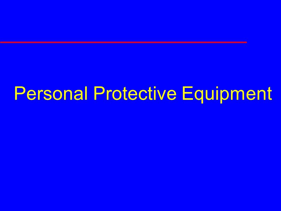 PPE Assessment Areas