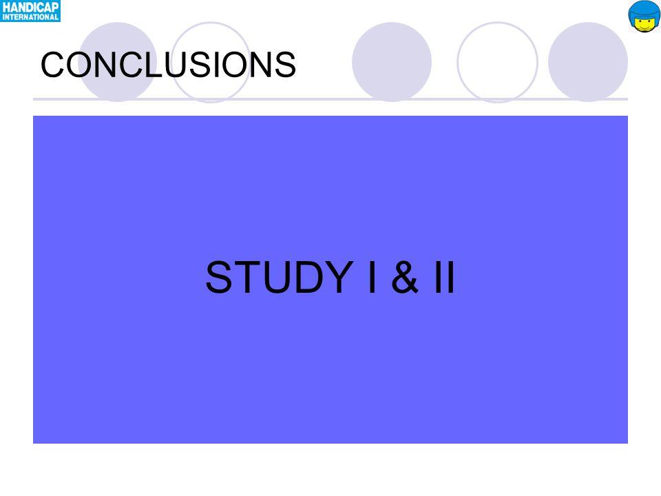 STUDY I & II CONCLUSIONS