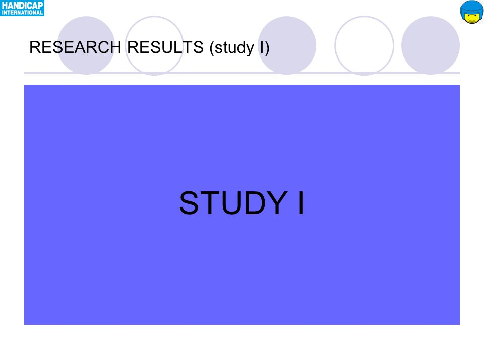 STUDY II RESEARCH RESULTS (study II)