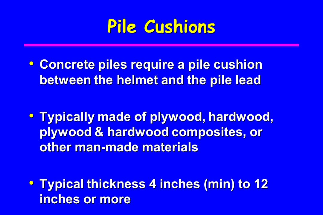 H-pile Helmet and Hammer Cushion Section