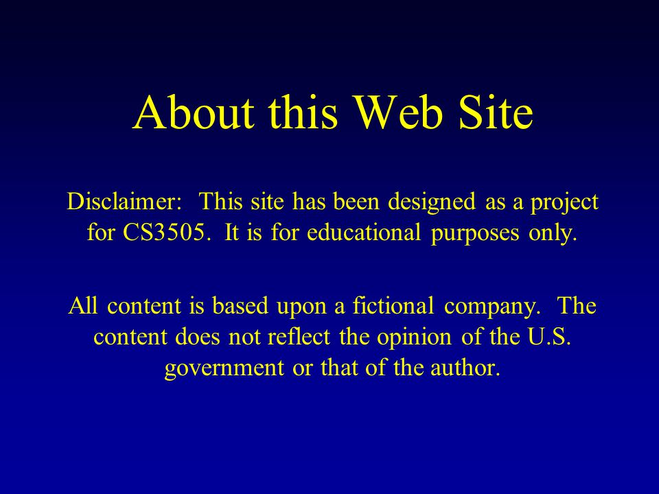 Web Page Goal Design a typical web page for JetWash Inc.