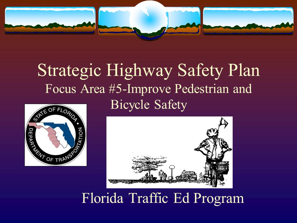 Strategic Highway Safety Plan Focus Area #5-Improve Pedestrian and Bicycle Safety Florida Traffic Ed Program