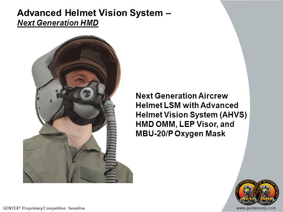 GENTEX ® Proprietary/Competition Sensitive www.gentexcorp.com Advanced Helmet Vision System – Next Generation HMD Next Generation Aircrew Helmet LSM w