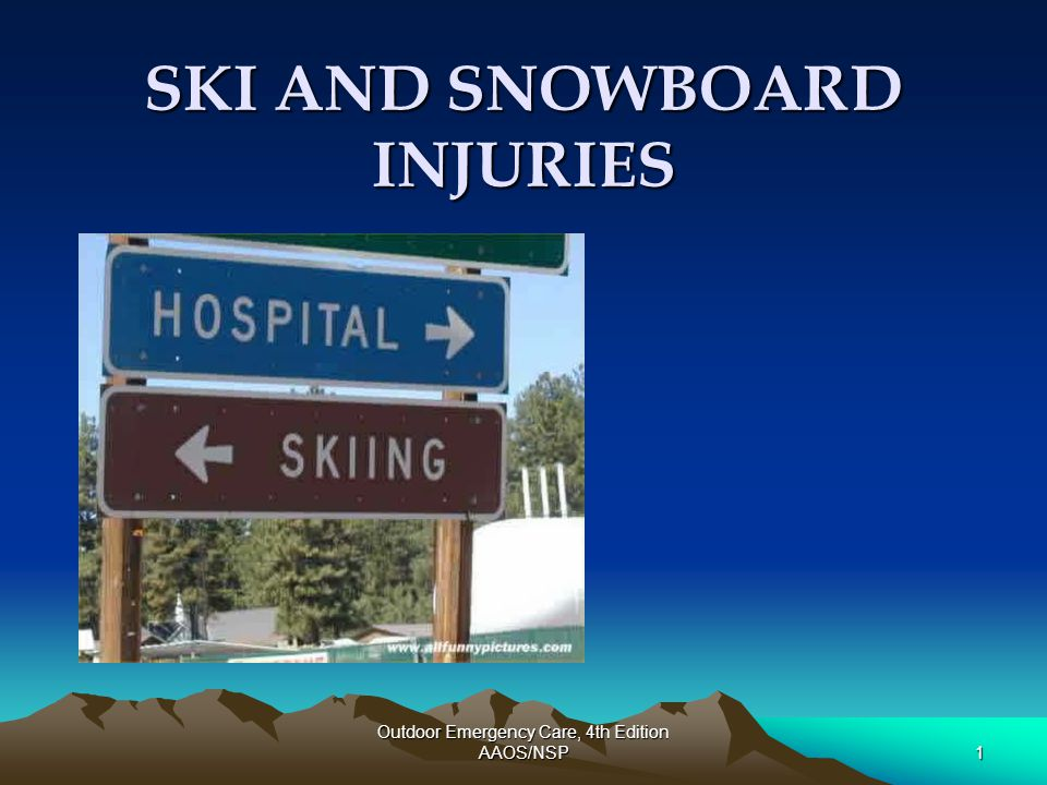 Outdoor Emergency Care, 4th Edition AAOS/NSP22 Snowboarding: Wrist Guards Ronning et al.