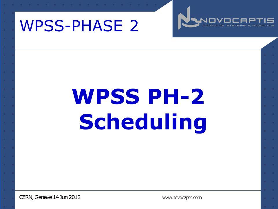 CERN, Geneve 14 Jun 2012 www.novocaptis.com WPSS-PHASE 2 WPSS PH-2 Scheduling