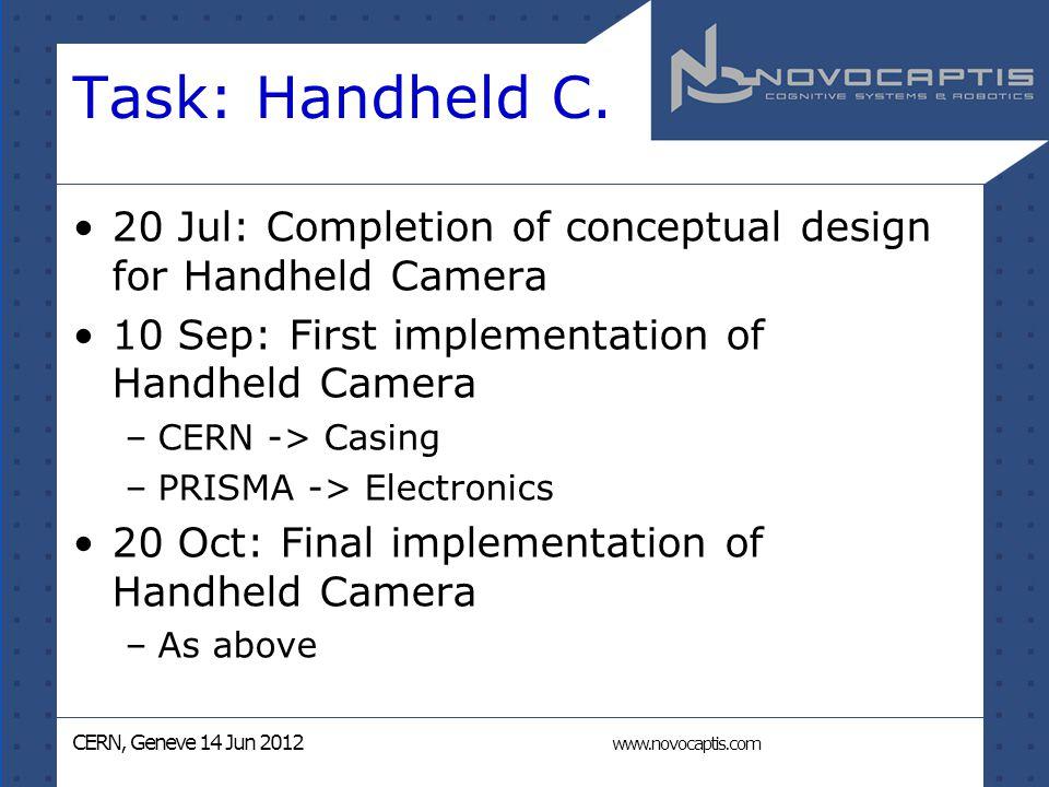 CERN, Geneve 14 Jun 2012 www.novocaptis.com Task: Handheld C.