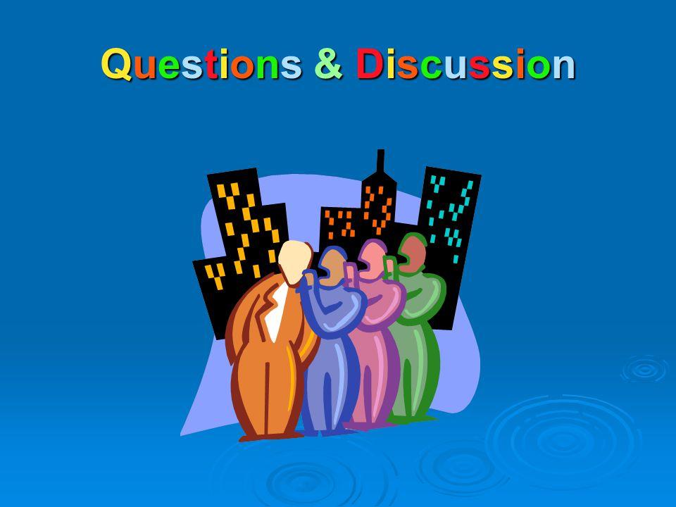 Questions & DiscussionQuestions & DiscussionQuestions & DiscussionQuestions & Discussion