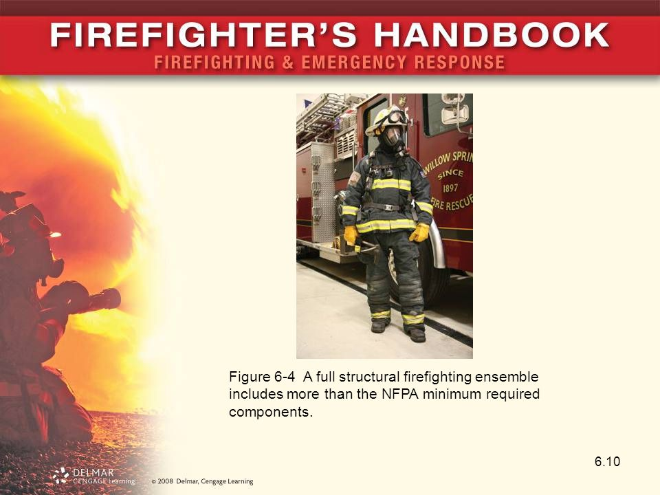 6.10 Figure 6-4 A full structural firefighting ensemble includes more than the NFPA minimum required components.