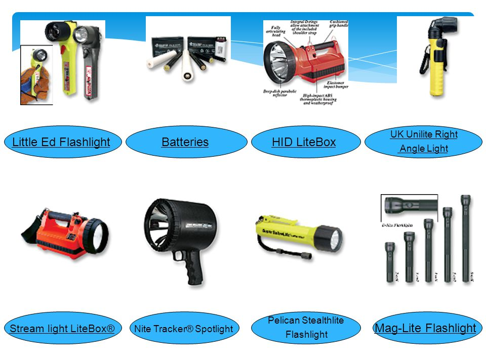 چراغ هاي اضطراردستي ( handle light ) Light hawk LED MityLite™ 2430Stream light Vulcan Stream light Survivor® Flashlight