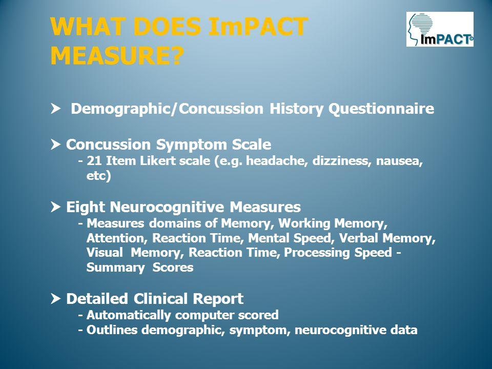 WHAT DOES ImPACT MEASURE.
